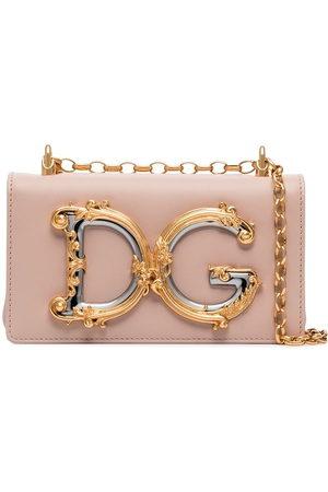 Dolce & Gabbana DG Girls logo-embellished leather shoulder bag