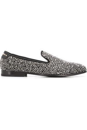 Philipp Plein Men Loafers - Rhinestone studded loafers