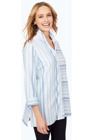 Foxcroft Santino Dobby Stripe Tunic