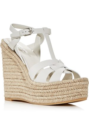 Saint Laurent Women's Espadrille Platform Wedge Sandals