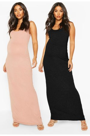 Boohoo Womens Maternity 2 Pack Maxi Dress - - 4