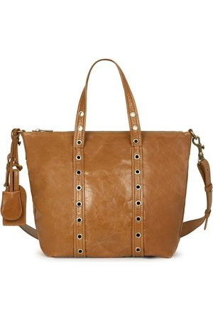 Vanessa Bruno Women Tote Bags - Small Crinckled Leather Zippy Bag