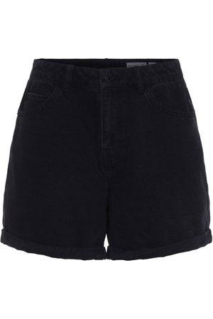 VERO MODA Women Shorts - Nineteen High Waist Loose Mix Denim Shorts XS