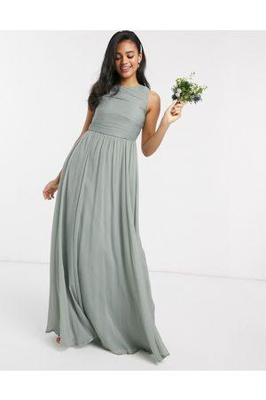 ASOS Bridesmaid maxi dress with soft pleated bodice