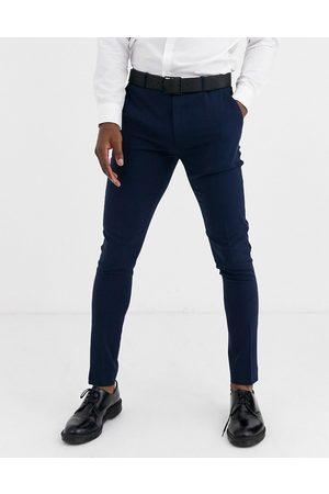 ASOS Super skinny tuxedo suit pants in navy