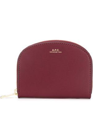 A.P.C Logo zipped wallet