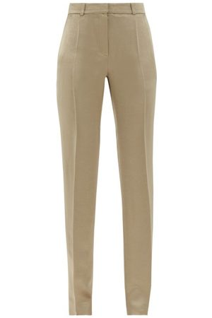 PALLAS X CLAIRE THOMSON-JONVILLE Garret Hammered-satin Trousers - Womens