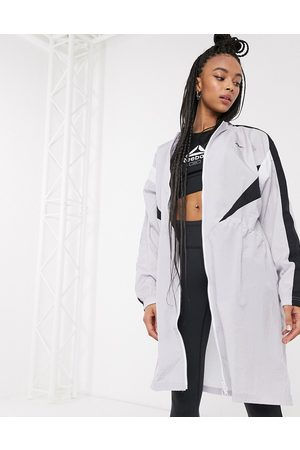 Reebok Training long woven jacket in