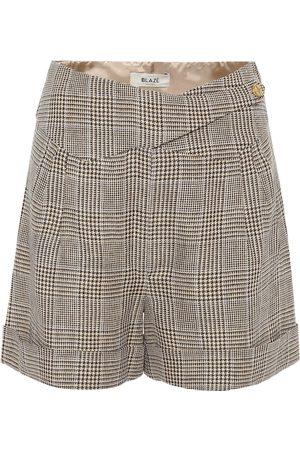 Blazé Milano Basque linen and wool shorts