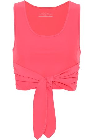 Lanston Axel cropped wrap tank top