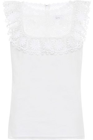 RED Valentino Cotton broderie anglaise top