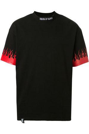 Vision Of Super Short sleeve flame print T-shirt