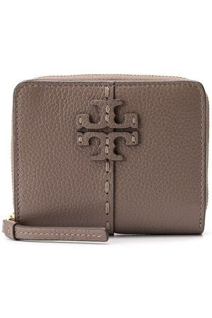 Tory Burch Branded small wallet - Neutrals