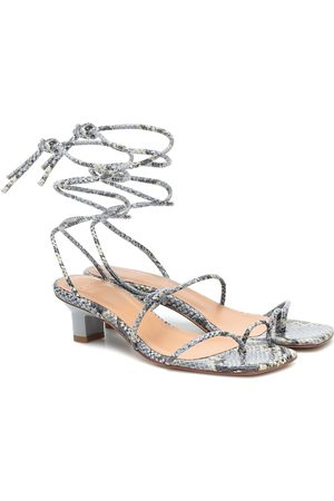 LOQ Roma snake-effect leather sandals