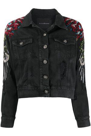 John Richmond Women Denim Jackets - Sequin embellished denim jacket