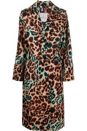 Moncler Leopard print trench coat - Neutrals