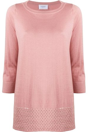 SNOBBY SHEEP Cropped sleeve loose fit top