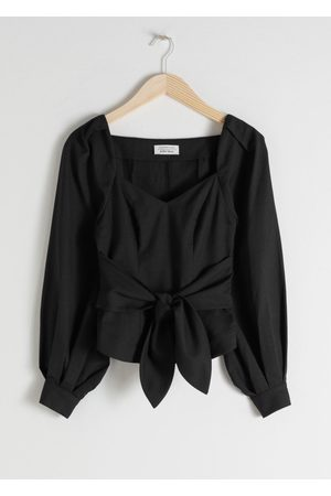 & OTHER STORIES Tie Waist Blouse