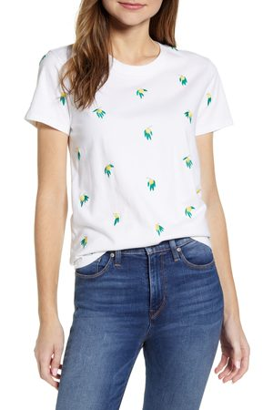 Lucky Brand Women's Embroidered Cotton T-Shirt