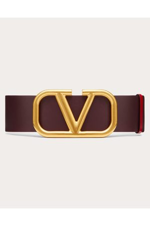 VALENTINO GARAVANI Women Belts - Reversible Vlogo Belt In Glossy Calfskin 70 Mm Women Rubin/pure Calfskin 100% 70