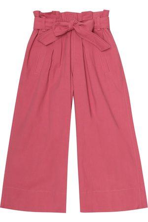 Brunello Cucinelli Girls Pants - Cotton-poplin pants