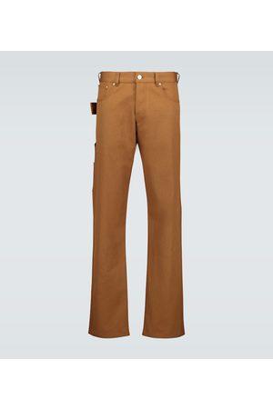 Bottega Veneta Men Straight - Cotton straight-leg pants