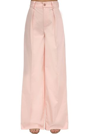 LESYANEBO Cotton Blend Straight Leg Pants