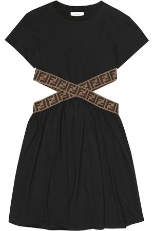 Fendi Girls Casual Dresses - FF cotton-jersey dress