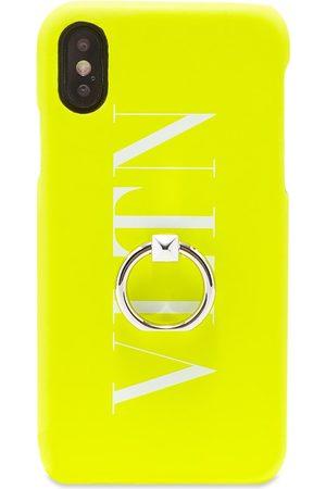 VALENTINO Men Phones Cases - Fluo VLTN iPhone Xs Case