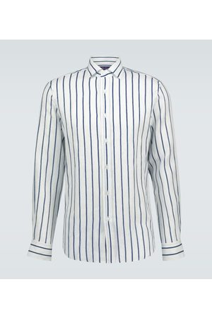 Ralph Lauren Striped linen long-sleeved shirt
