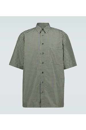 RAF SIMONS Checked short-sleeved shirt