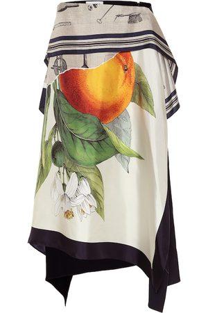 MONSE Women Printed Skirts - Printed silk-twill midi skirt