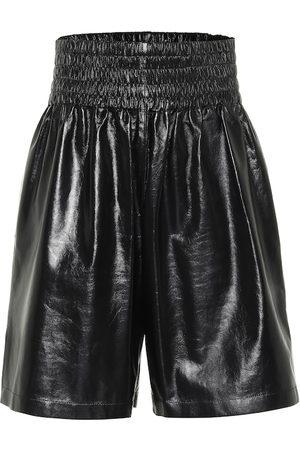 Bottega Veneta Women Bermudas - Leather Bermuda shorts