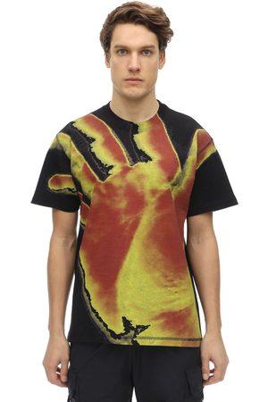 UNITED STANDARD Hand Print Cotton Jersey T-shirt