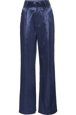 Staud Bruco cotton-blend wide-leg pants
