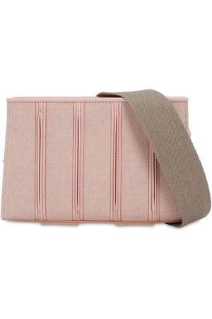 Max Mara Canvas & Leather Shoulder Bag