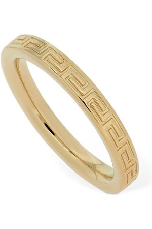 VERSACE Small Fedina Ring W/ Greek Motif