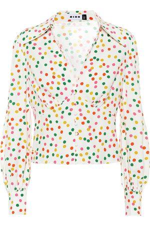 RIXO London Daria printed crêpe blouse
