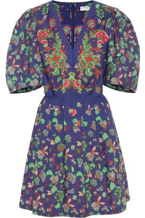 Givenchy Floral-print cotton-poplin minidress