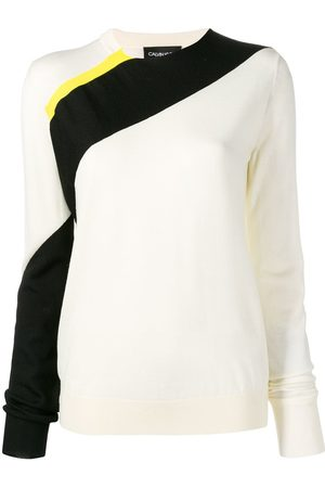 Calvin Klein Women Sweaters - Diagonal stripe jumper - Neutrals