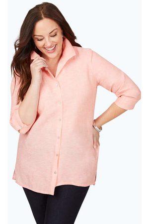 Foxcroft Women Tunics - Stirling Plus Non-Iron Linen Tunic