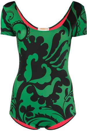 La DoubleJ Floral print surf swimsuit