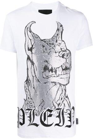 Philipp Plein Crystal embellished dog T-shirt