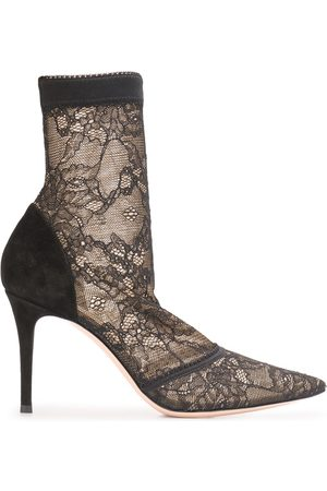 Gianvito Rossi Floral lace ankle boots