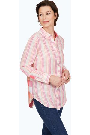 Foxcroft Women Tunics - Havana Easy-Care Pattern Linen Tunic