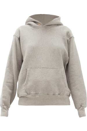 Les Tien - Fleeceback Cotton-jersey Hooded Sweatshirt - Womens - Grey