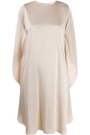 Stella McCartney Draped-back sleeveless dress - Neutrals