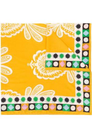 La DoubleJ Pineapple print side patterned scarf