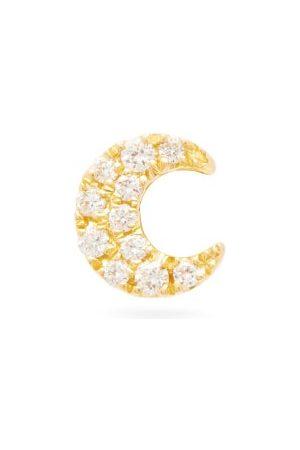 Maria Tash Women Studs - Moon Diamond & 18kt Single Earring - Womens
