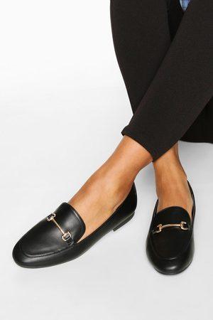 Boohoo Womens T Bar Basic Loafers - - 5